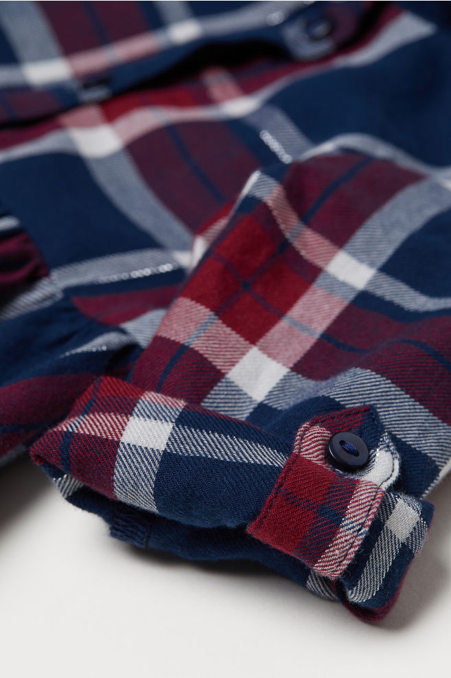 d085dd4d4439 Kárované košeľové šaty - tmavomodrá károvaná - DETI