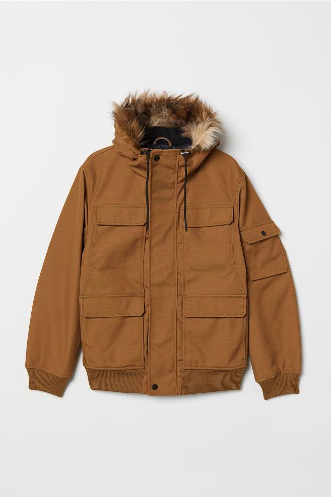9d023d6baf3d9 Short Hooded Jacket - Light brown - Men | H&M US 1