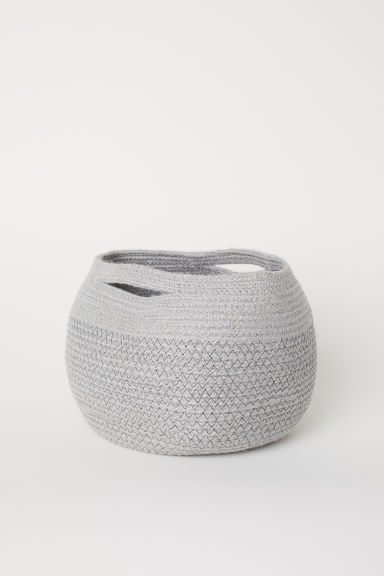 Jute storage basket - Light grey - Home All | H&M GB