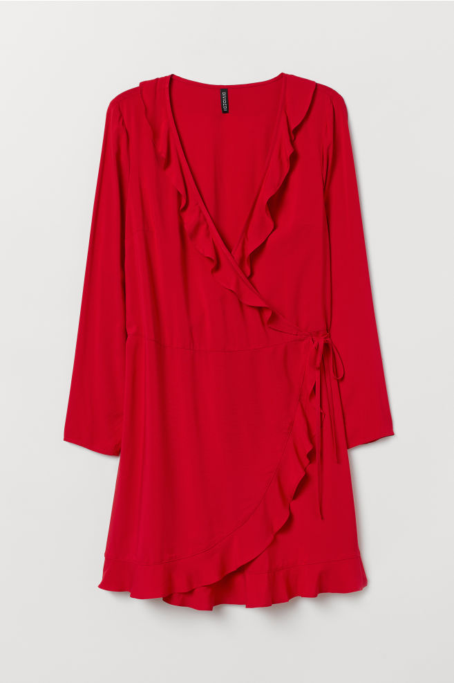 56c75fa820 H&M+ Átlapolt ruha - Piros - NŐI   H&M ...