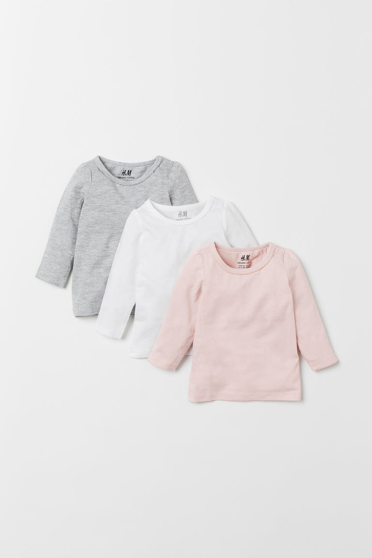 3-pack jersey tops - Light pink - Kids | H&M CN