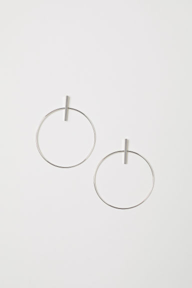 Hoop earrings - Silver-coloured - Ladies | H&M CN
