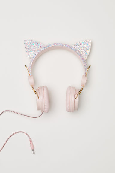 Casque audio - Rose scintillant/chat - ENFANT | H&M CH