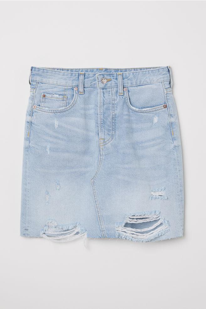 a89d0c4b72ff Džínsová sukňa - svetlomodrá -