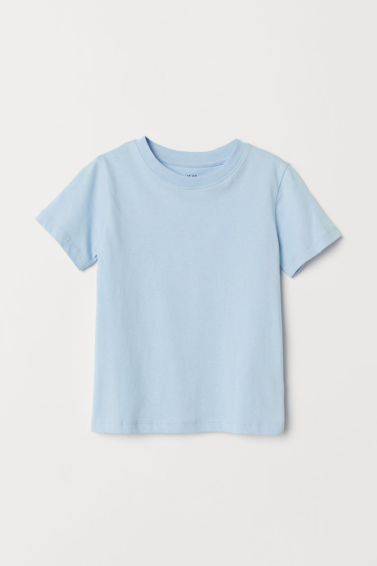 Cotton T-shirt - Light blue - Kids | H&M CN