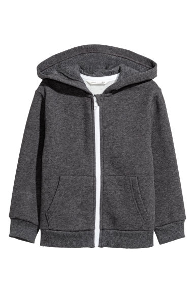 Hooded jacket - Dark grey marl -  | H&M