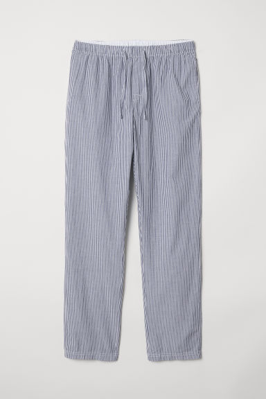 Pyjama bottoms - Blue/Striped - Men | H&M