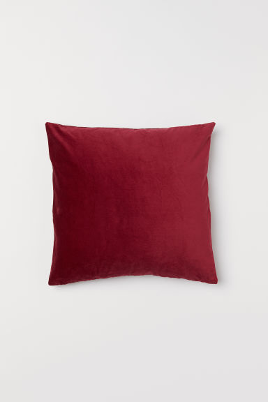 Fluwelen kussenhoes - Donkerrood - HOME | H&M BE