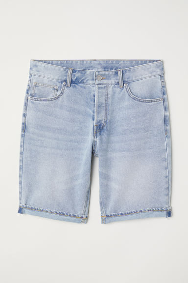 Slim Denim Shorts - Light denim blue - Men | H&M