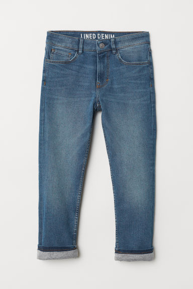 Skinny fit Lined Jeans - Denimblå - BARN | H&M NO