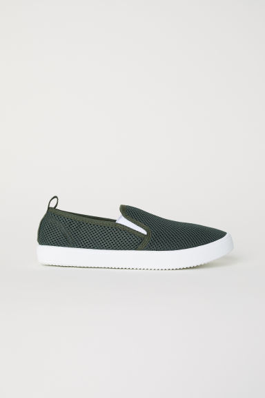 Slip-on sneakers - Donkergroen -  | H&M BE