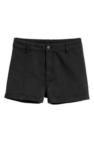 Twill shorts - Black - Ladies | H&M CN