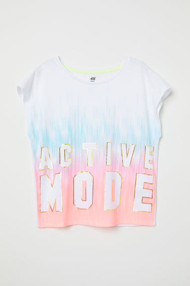 Sports top - White - Kids | H&M CN