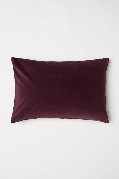 Cotton velvet cushion cover - Burgundy - Home All | H&M GB