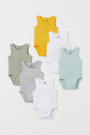 6-pack Sleeveless Bodysuits