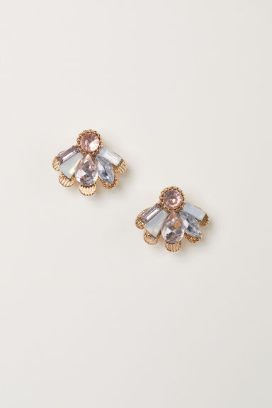 Earrings - Light pink/Gold-coloured - Ladies | H&M CN