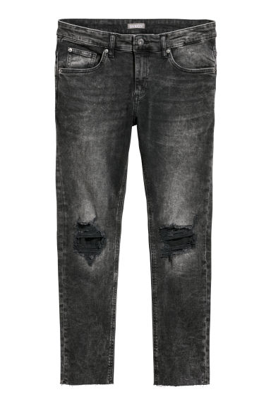 Super Skinny Trashed Jeans - Black washed out - Men | H&M