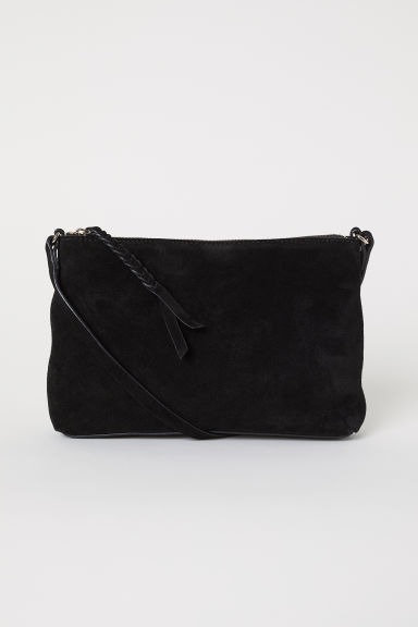 Suede shoulder bag - Black - Ladies | H&M CN