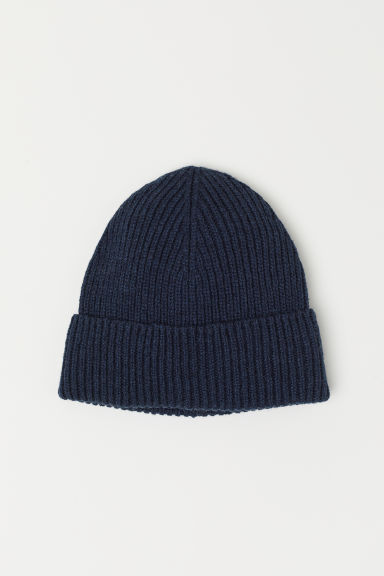 Wool-blend hat - Dark blue -  | H&M