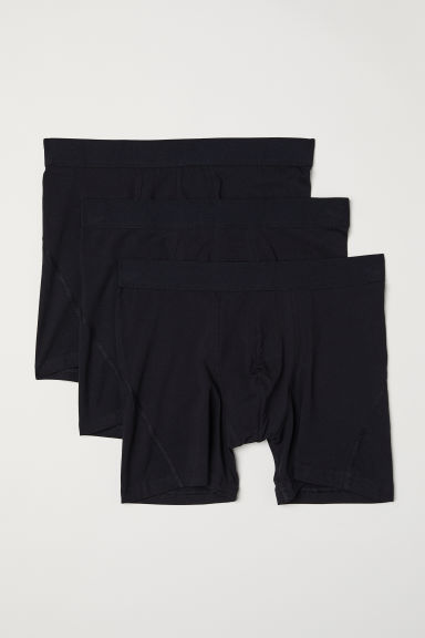 3-pack mid trunks - Black - Men | H&M GB