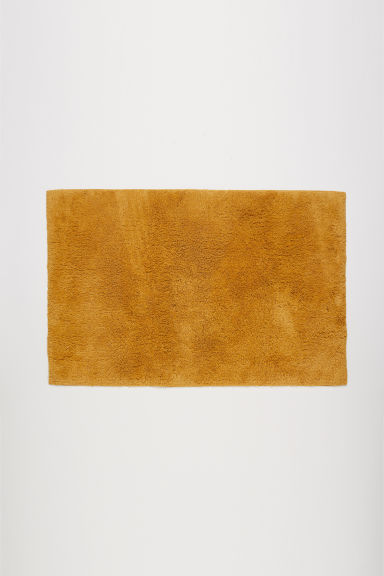 Bath mat - Dark mustard yellow - Home All | H&M CN