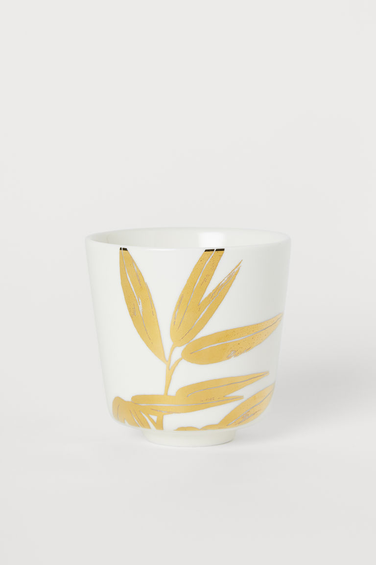 Porcelain Mug - White/gold-colored - Home All | H&M US