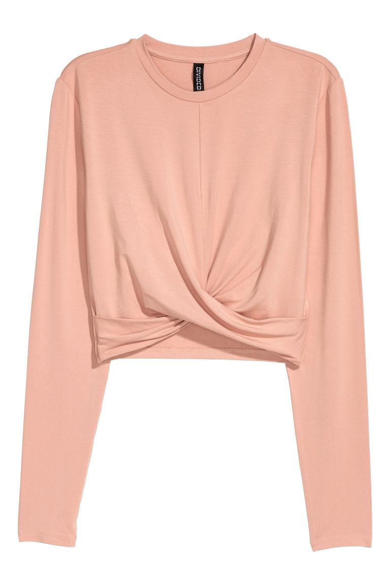 Top corto in jersey - Beige cipria - DONNA | H&M IT