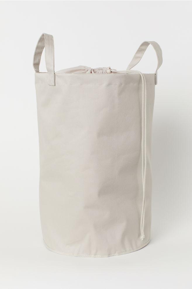 e618defe661a7 Bawełniana torba na pranie - Jasny brązowoszary - HOME