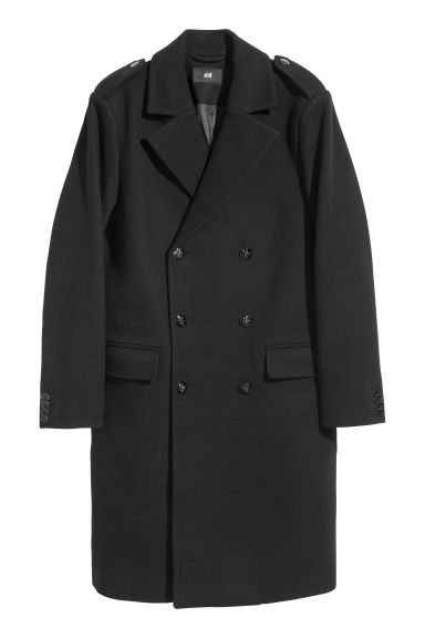 Wool-blend coat - Black - Men | H&M