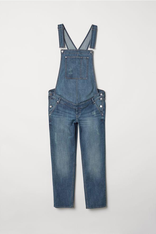496b16679b6fc MAMA Denim Bib Overalls - Denim blue - Ladies   H&M ...