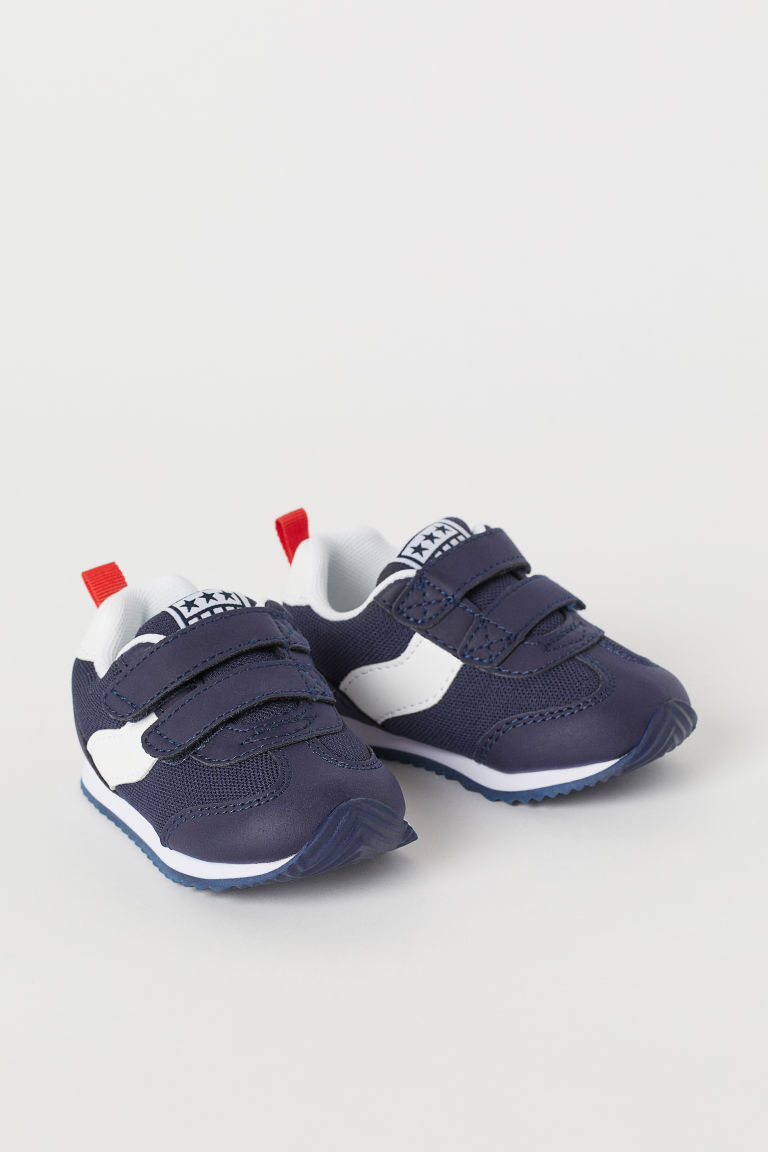 Mesh Sneakers - Dark blue - Kids | H&M US
