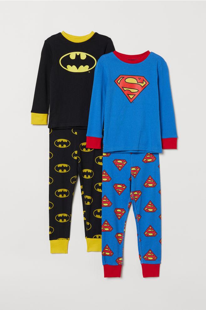 1cb6b18fd 2-pack pyjamas - Black Batman Blue Superman - Kids