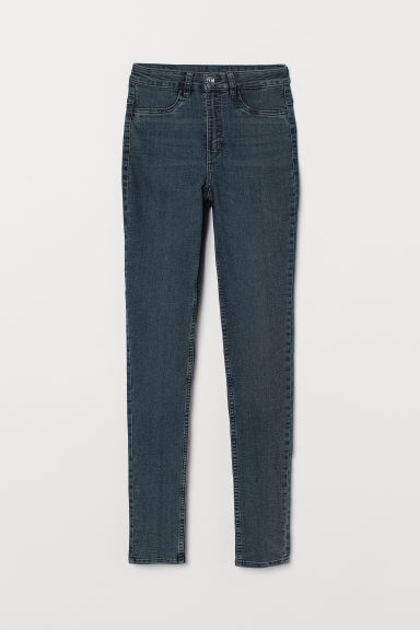 Super Skinny High Jeans - 深牛仔蓝 -  | H&M CN
