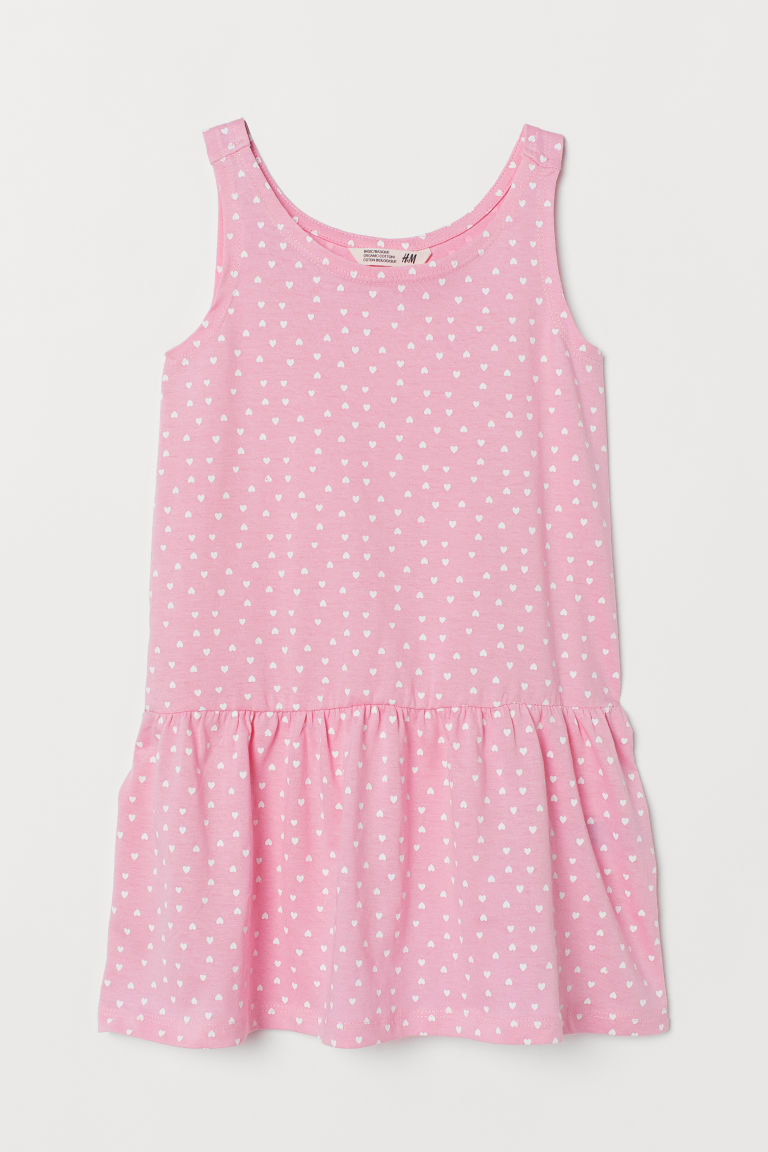 Patterned jersey dress - Pink/Hearts - Kids | H&M