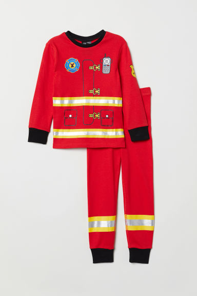 Jersey pyjamas - Red/Fireman - Kids | H&M GB