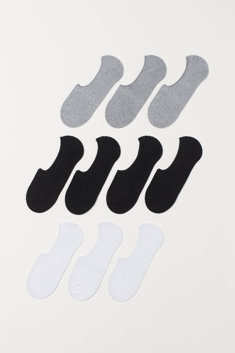 10er-Pack Sneakersocken - Schwarz/Weiß - Men | H&M AT