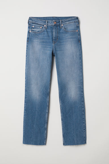 Straight High Ankle Jeans - Denim blue - Ladies | H&M