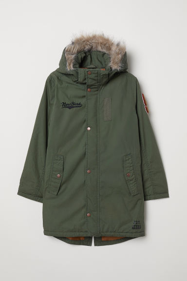 Padded parka - Khaki green - Kids | H&M IE
