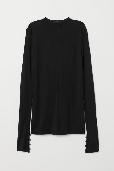 Fine-knit wool-blend jumper - Black -  | H&M