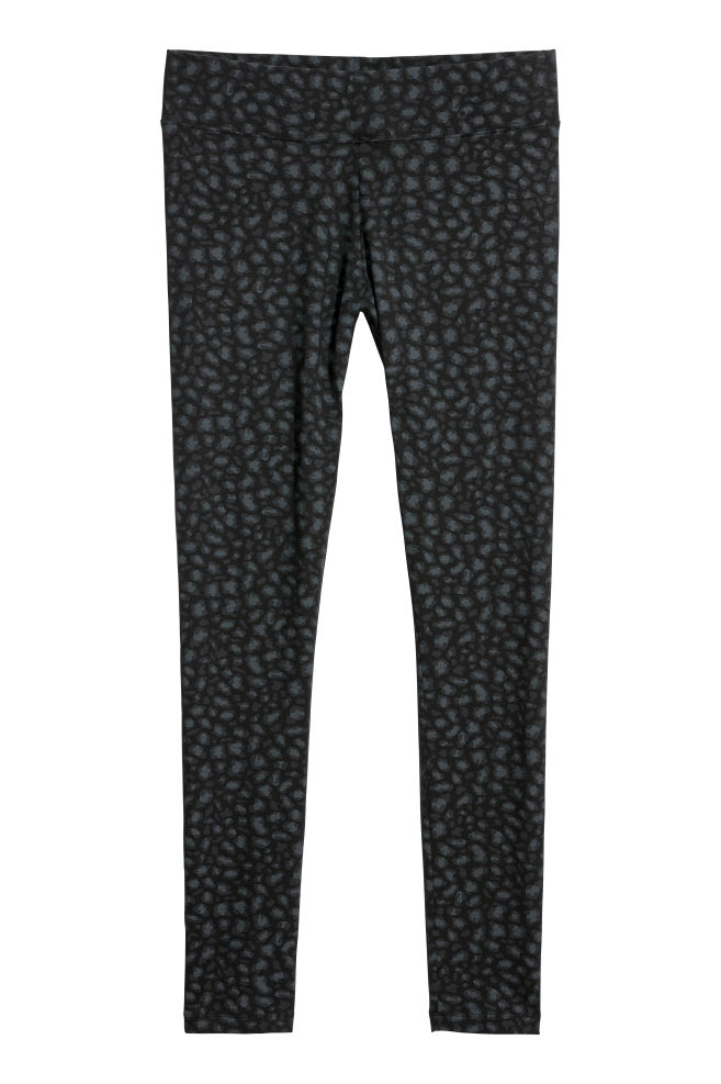 d9ebc53e456b5 Jersey leggings - Black/Leopard print - Ladies   H&M ...