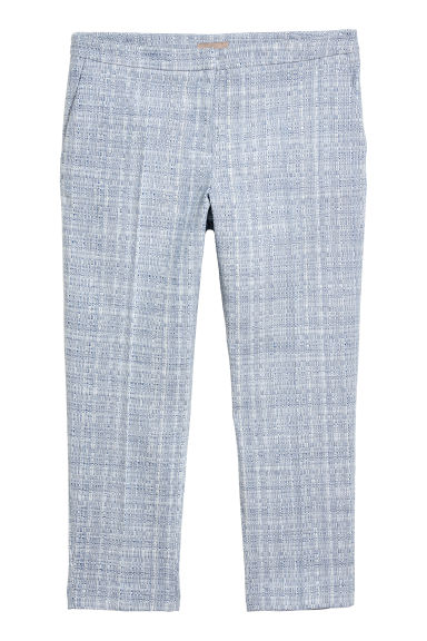 H&M+ Tailored trousers - Blue/White patterned -  | H&M