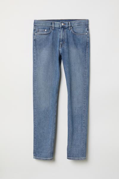 H&M - Straight Slim Selvedge Jeans - 5