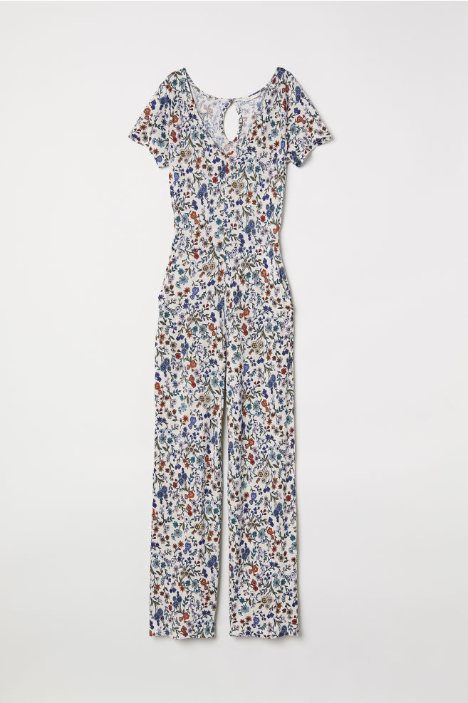 843c2b0f76 Jersey jumpsuit - Natural white Floral - Ladies