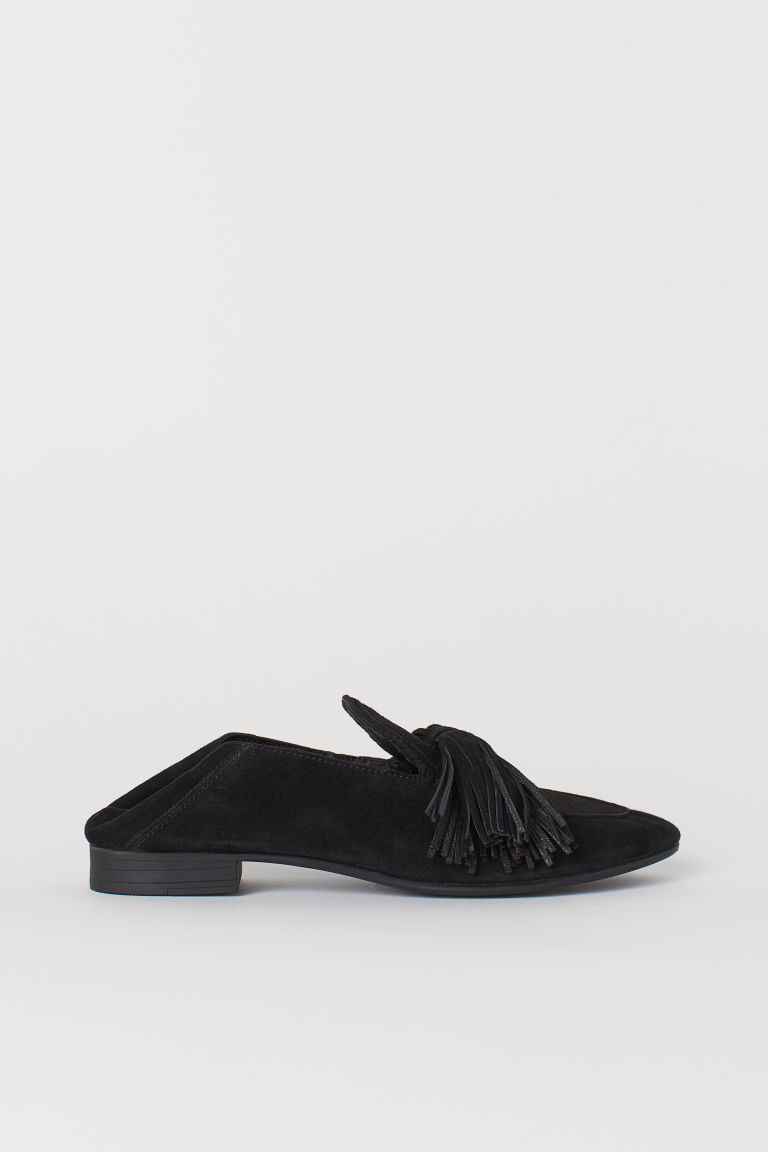 Suede Loafers - Black - Ladies | H&M US