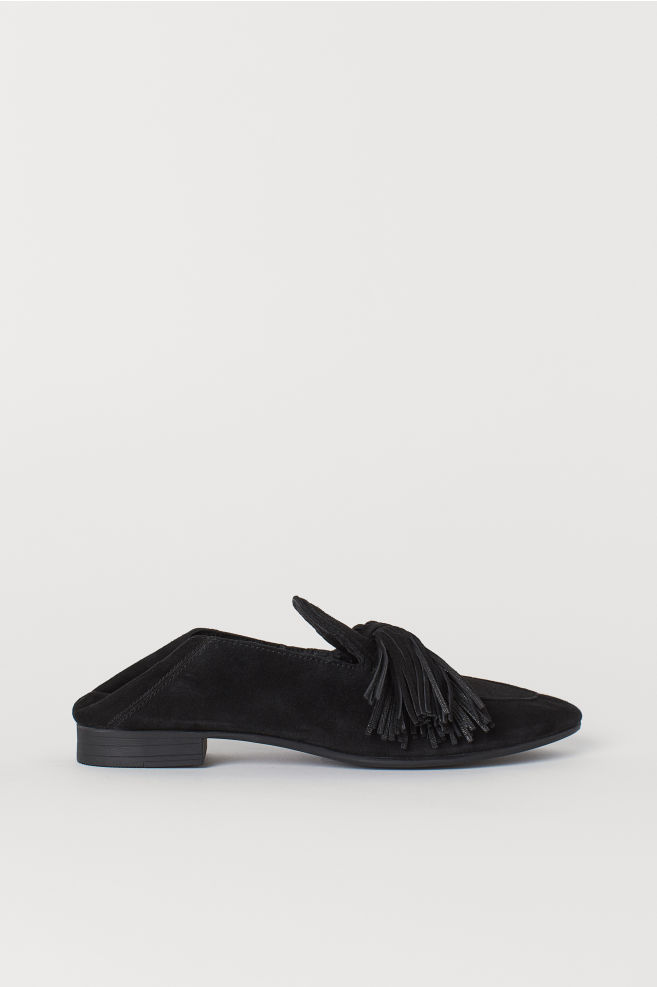 73b806876a5 Suede Loafers - Black - Ladies
