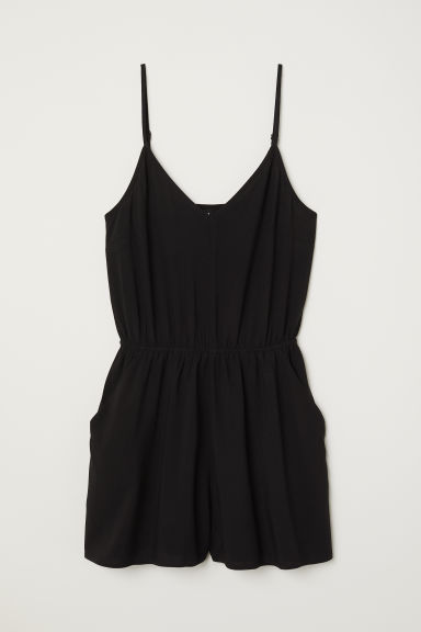 Tuta corta - Nero - DONNA | H&M IT