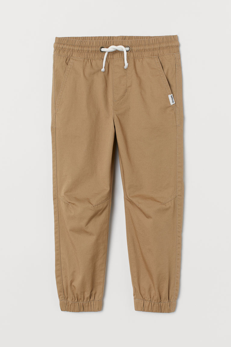 Cotton pull-on trousers - Beige - Kids | H&M GB