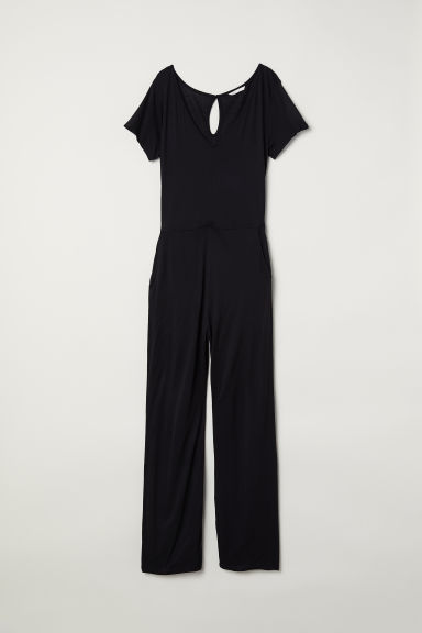 Jersey jumpsuit - Black - Ladies | H&M CN