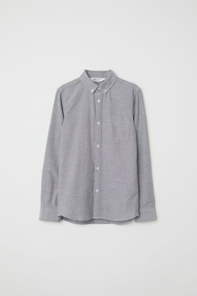 Oxford cotton shirt - Grey - Kids | H&M