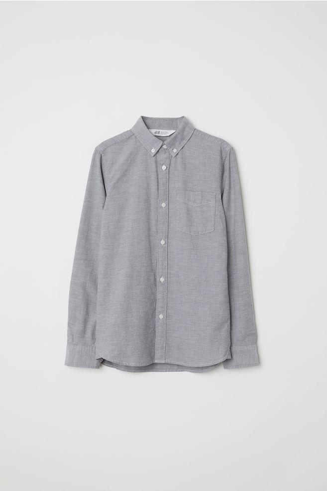 7482337959796e Hemd aus Oxford-Baumwolle - Grau - Kids